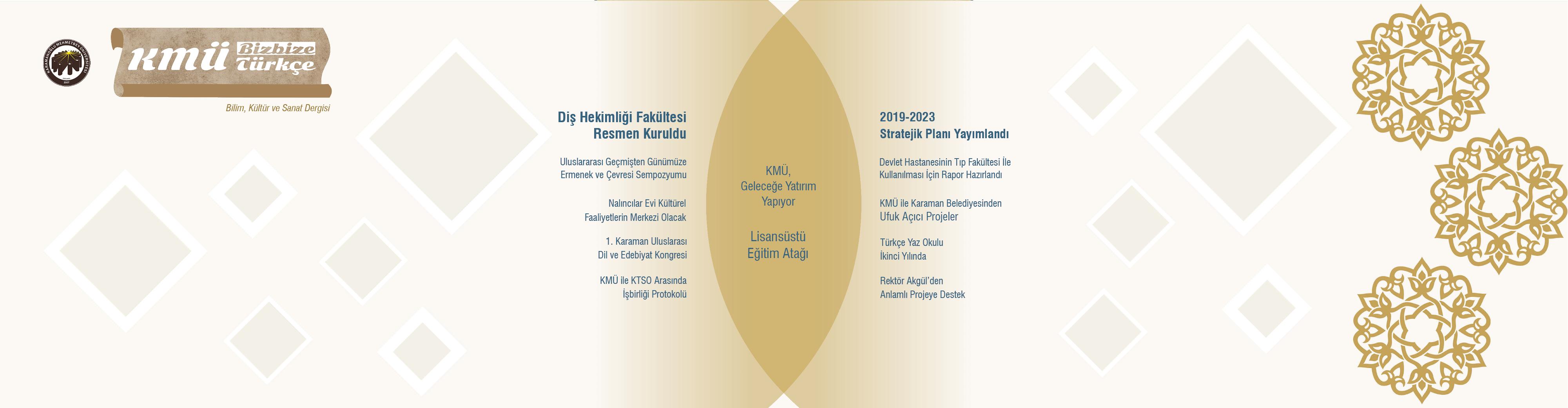 KMÜ Bizbize Türkçe Dergisi 3. Sayısı Yayımlandı