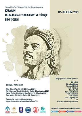 Karaman Uluslararası Yunus Emre ve Türkçe Bilgi Şöleni